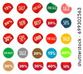 set of tags fully editable... | Shutterstock .eps vector #699302563