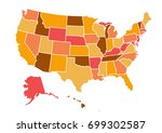 usa map vector illustration | Shutterstock .eps vector #699302587