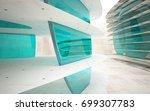 empty dark abstract brown...   Shutterstock . vector #699307783