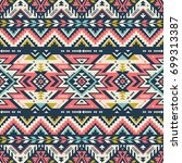retro colors tribal vector... | Shutterstock .eps vector #699313387