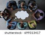 hipster business teamwork...   Shutterstock . vector #699313417