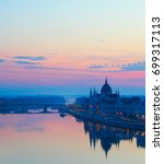 budapest parliament mirroring... | Shutterstock . vector #699317113