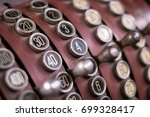 old cash register closeup  ... | Shutterstock . vector #699328417