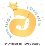 vector illustration of ginger... | Shutterstock .eps vector #699330097