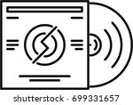 vinyl record outline icon | Shutterstock .eps vector #699331657