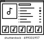 on line music outline icon | Shutterstock .eps vector #699331957