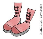 boots icon image | Shutterstock .eps vector #699340873
