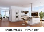 the modern kitchen interior... | Shutterstock . vector #69934189