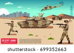military war modern army in a... | Shutterstock .eps vector #699352663