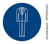 elegant office suit icon | Shutterstock .eps vector #699354163