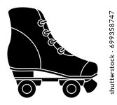 skates old isolated icon | Shutterstock .eps vector #699358747