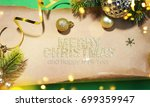 christmas holiday background. | Shutterstock . vector #699359947
