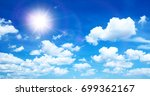 sunny background  blue sky with ... | Shutterstock . vector #699362167