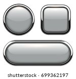 glossy buttons with metallic... | Shutterstock .eps vector #699362197