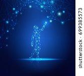 concept of cloud technology ... | Shutterstock .eps vector #699385573