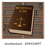 business law is an illustration ... | Shutterstock .eps vector #699414097