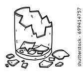 cracked glass   cartoon vector... | Shutterstock .eps vector #699414757