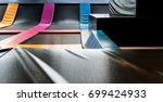 interconnected trampolines for... | Shutterstock . vector #699424933