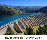 the roseland dam holds back a...