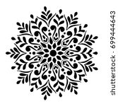 mandalas for coloring book.... | Shutterstock .eps vector #699444643