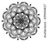 mandalas for coloring book....   Shutterstock .eps vector #699444817