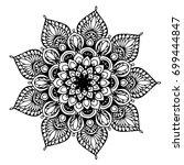 mandalas for coloring book....   Shutterstock .eps vector #699444847