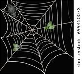 spider and flies in the web | Shutterstock .eps vector #699450073