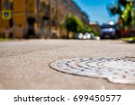 summer in the city  the empty... | Shutterstock . vector #699450577