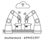 industry 4.0 wireless network... | Shutterstock .eps vector #699451597