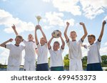 portrait of happy boys in... | Shutterstock . vector #699453373