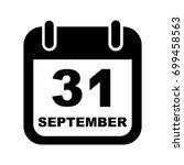 september 31 calendar vector...