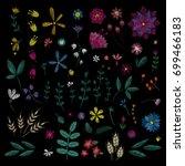 flowers plant. traditional folk ... | Shutterstock .eps vector #699466183