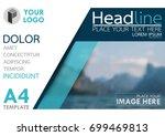 blue flyer cover business... | Shutterstock .eps vector #699469813