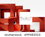 squares geometric object in... | Shutterstock .eps vector #699483523