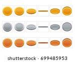 fx sprite sheet animation set... | Shutterstock .eps vector #699485953
