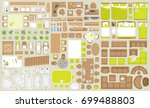 icons set of interior.... | Shutterstock .eps vector #699488803