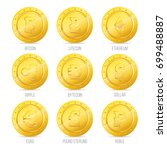 A Set Of Icons Of Gold Coins....