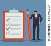 business concept of businessman ... | Shutterstock .eps vector #699491107
