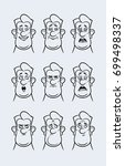 cute cartoon character faces ... | Shutterstock .eps vector #699498337
