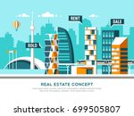city landscape. real estate and ... | Shutterstock .eps vector #699505807