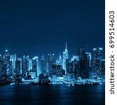 midtown skyline over hudson... | Shutterstock . vector #699514603