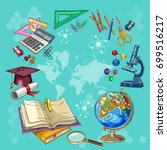 education and science. open... | Shutterstock .eps vector #699516217