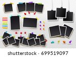 set of square photo frames on... | Shutterstock .eps vector #699519097