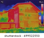 infrared thermovision image... | Shutterstock . vector #699522553