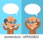 cartoon senior man expressing... | Shutterstock .eps vector #699522823