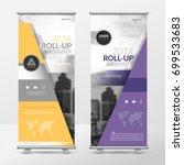 business roll up design... | Shutterstock .eps vector #699533683
