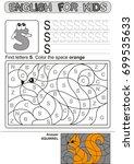 preschool education. puzzle for ... | Shutterstock .eps vector #699535633
