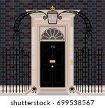 exterior shot of 10 downing... | Shutterstock .eps vector #699538567