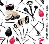professional makeup artist... | Shutterstock .eps vector #699541303