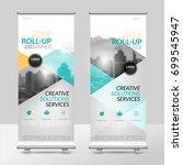 business roll up design... | Shutterstock .eps vector #699545947